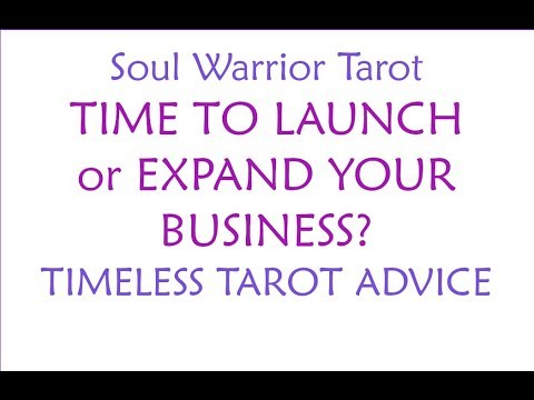 🍀IS IT TIME TO LAUNCH OR EXPAND YOUR BUSINESS? Timeless Tarot Advice - Soul Warrior Tarot