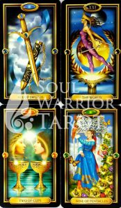 Gilded-Tarot with Soul Warrior Tarot
