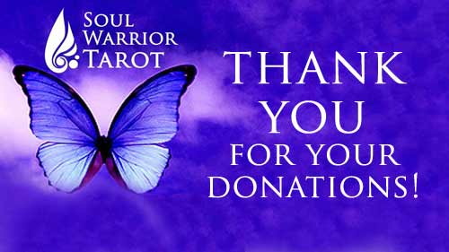 thank-you-donations to soul warrior tarot